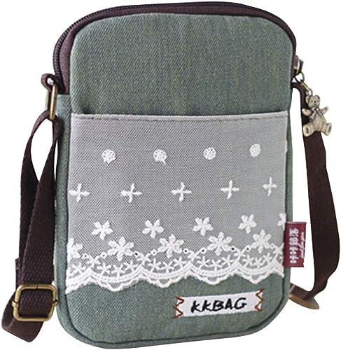 YaJaMa Waterproof Nylon Cell Phone Purse Small Crossbody Shoulder Bag Smartphone Holder Wallet for Women