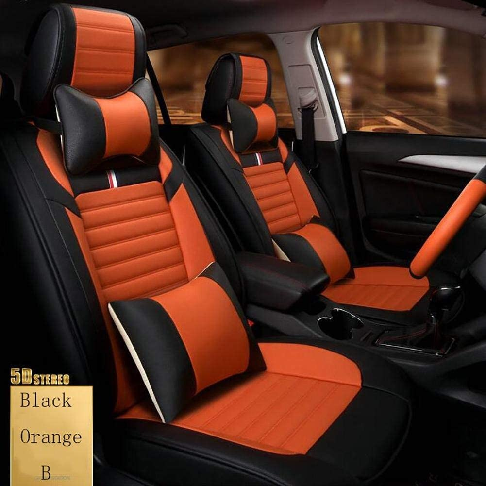 カーシートマットパッド 車のステアリングホイールカバー短い豪華な群がって運転品質ユニバーサルハンドルカバーを向上させます カーシートプロテクター (色 : Orange)