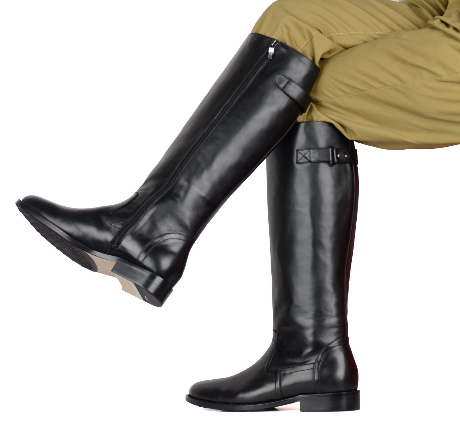 Amazon.com : GRB German Boots Leather Men's Black Jack Riding Boot ...