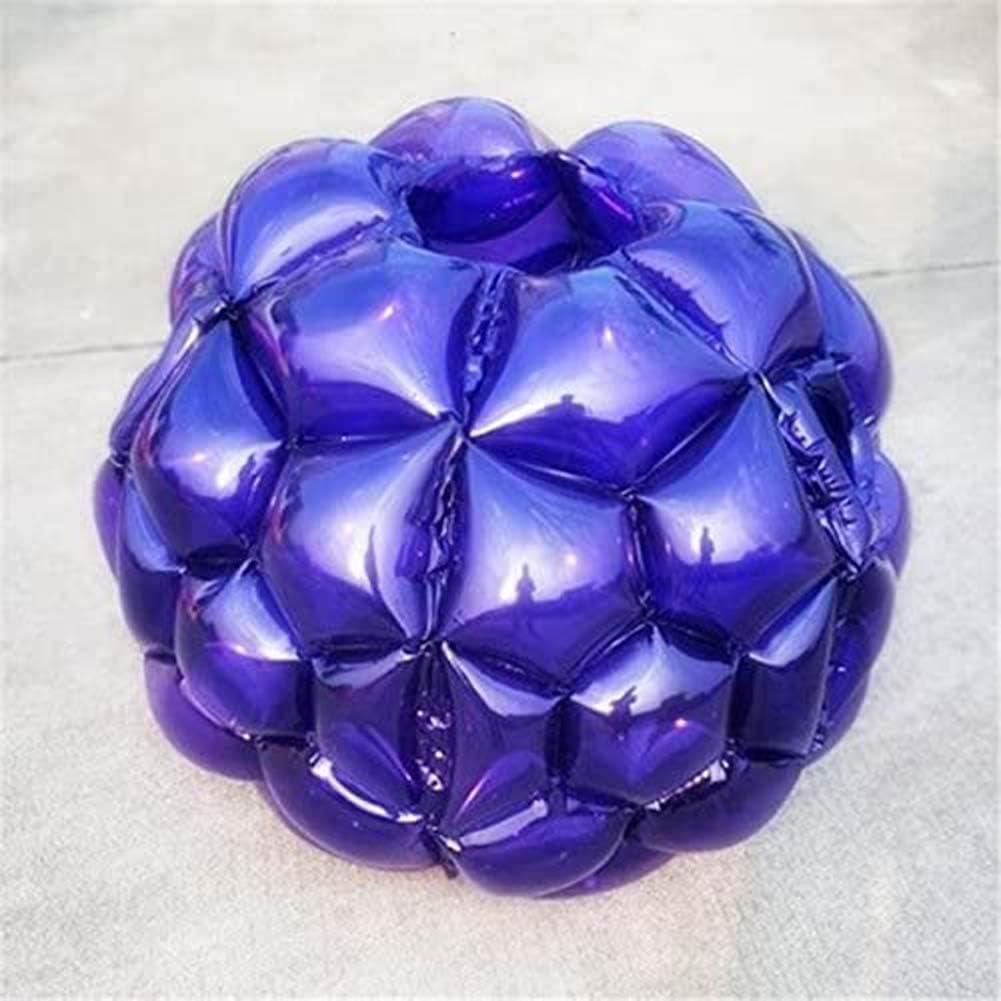 Bola de parachoques inflable Bola de golpeador humano, PVC transparente 90 cm de diámetro, Balón de fútbol de burbujas de fútbol al aire libre Bola de hámster humano, Juguetes inflables para niños