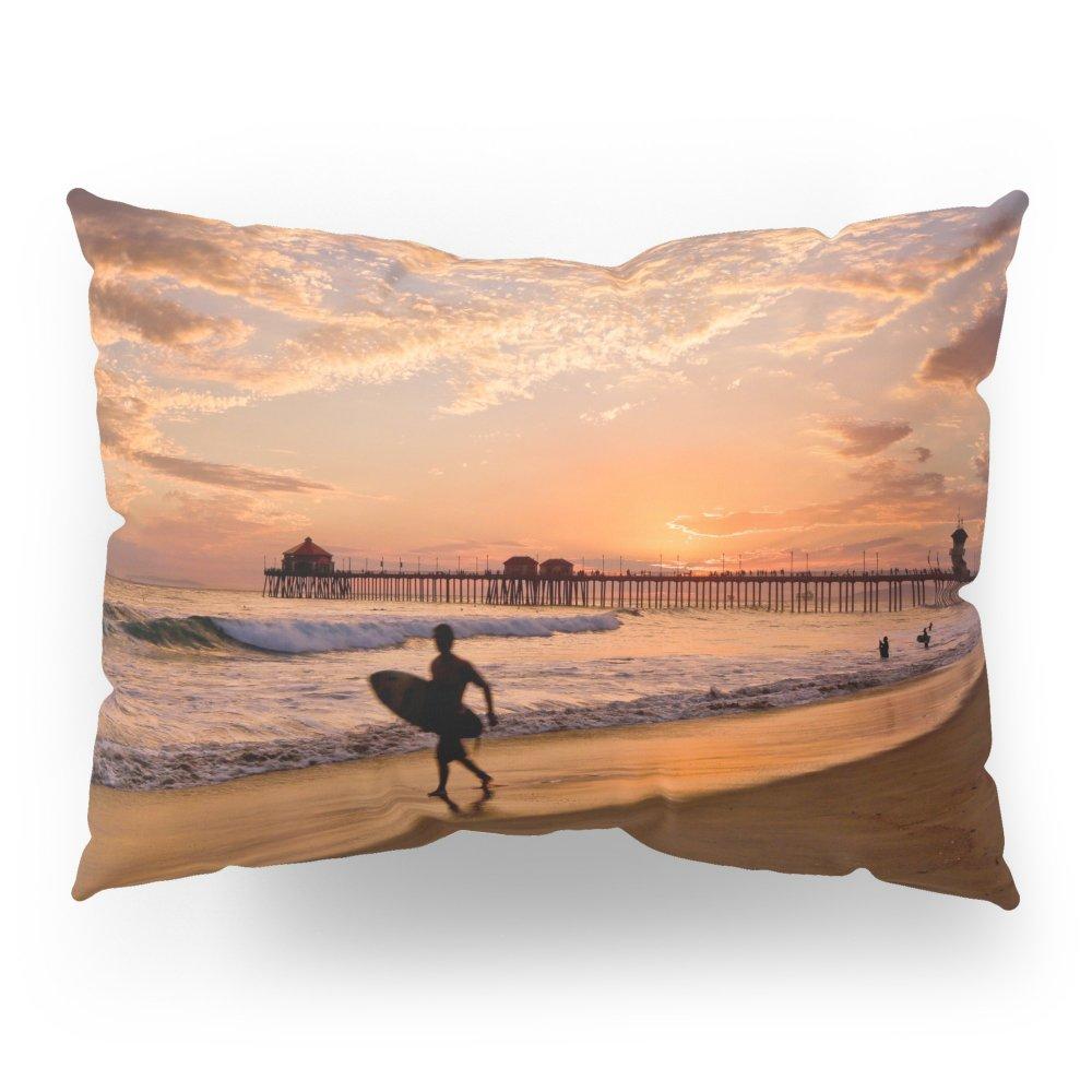 Society6 Surf City Sunsets 9/10/15 Huntington Beach California Pillow Sham Standard (20'' x 26'') Set of 2