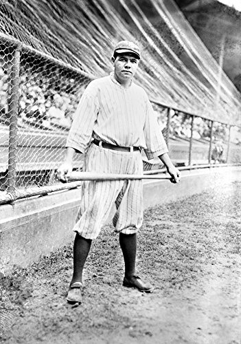 - George H Ruth (1895-1948) Nknown As Babe Ruth American Baseball Player Photographed While Playing For The New York Yankees 1921 Poster Print by (18 x 24)
