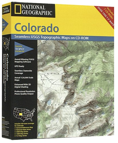 - National Geographic TOPO! Colorado Map CD-ROM (Windows)