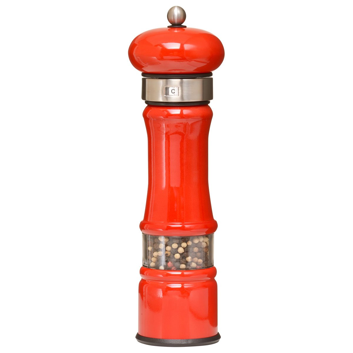 William Bounds 04921 ProView 9 inch Mill - Metal Pepper Grinder - Red