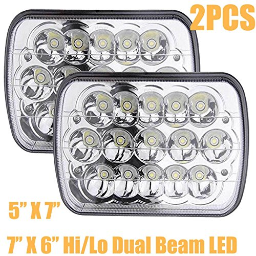 Car 9900 (Pair 7x6 Inch LED Headlights High Low Beam For International Harvester 5900i 7300 7400 9200 9400 9900 - Trucks/Cars Sealed Beam Rectangular Lights Bulb H6014,H6052,H6054,6054,H6053,H5054)