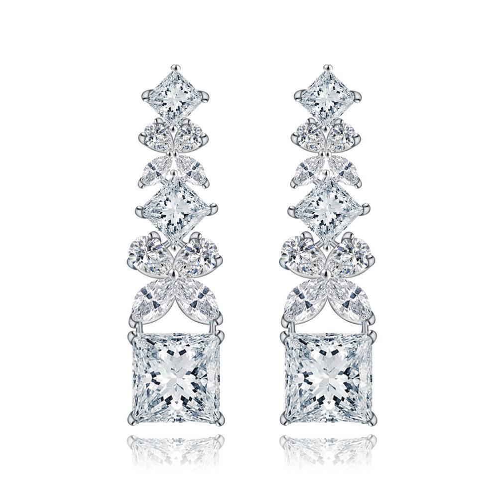 Maeryeインレイダイヤモンドジルコンシンプル厳粛なファッションの女性のイヤリング   B07F1XCQMY