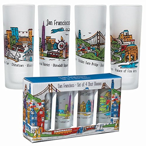 san-francisco-souvenir-frosted-shot-glass-set-of-4-sf-whimsy-themed