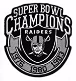 Oakland Raiders 3X Champions Iron-on Raider Nation Jersey Patch