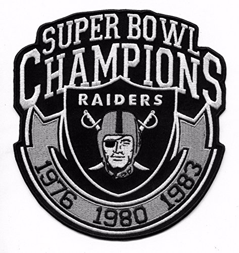 Oakland Raiders 3X Champions Iron-on Raider Nation Jersey Patch