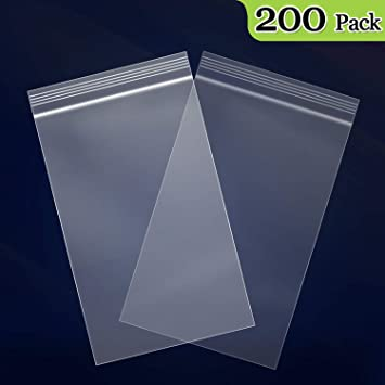 "200-3/"" x 4/"" RECLOSABLE CLEAR 2 MIL POLY ZIP LOCK  RESEALABLE PLASTIC BAGS"