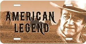 Signs 4 Fun S4L4140 John Wayne American Legend, License Plate