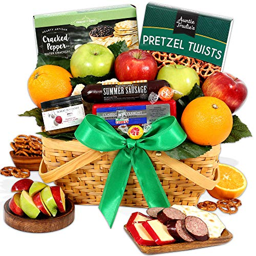 GourmetGiftBaskets.com Picnic Fruit Basket - Gourmet Gift Baskets Prime - Fruit Baskets - Food Gift Baskets Prime Delivery - Birthday, Christmas, Sympathy, Men, Women, Family by GourmetGiftBaskets.com