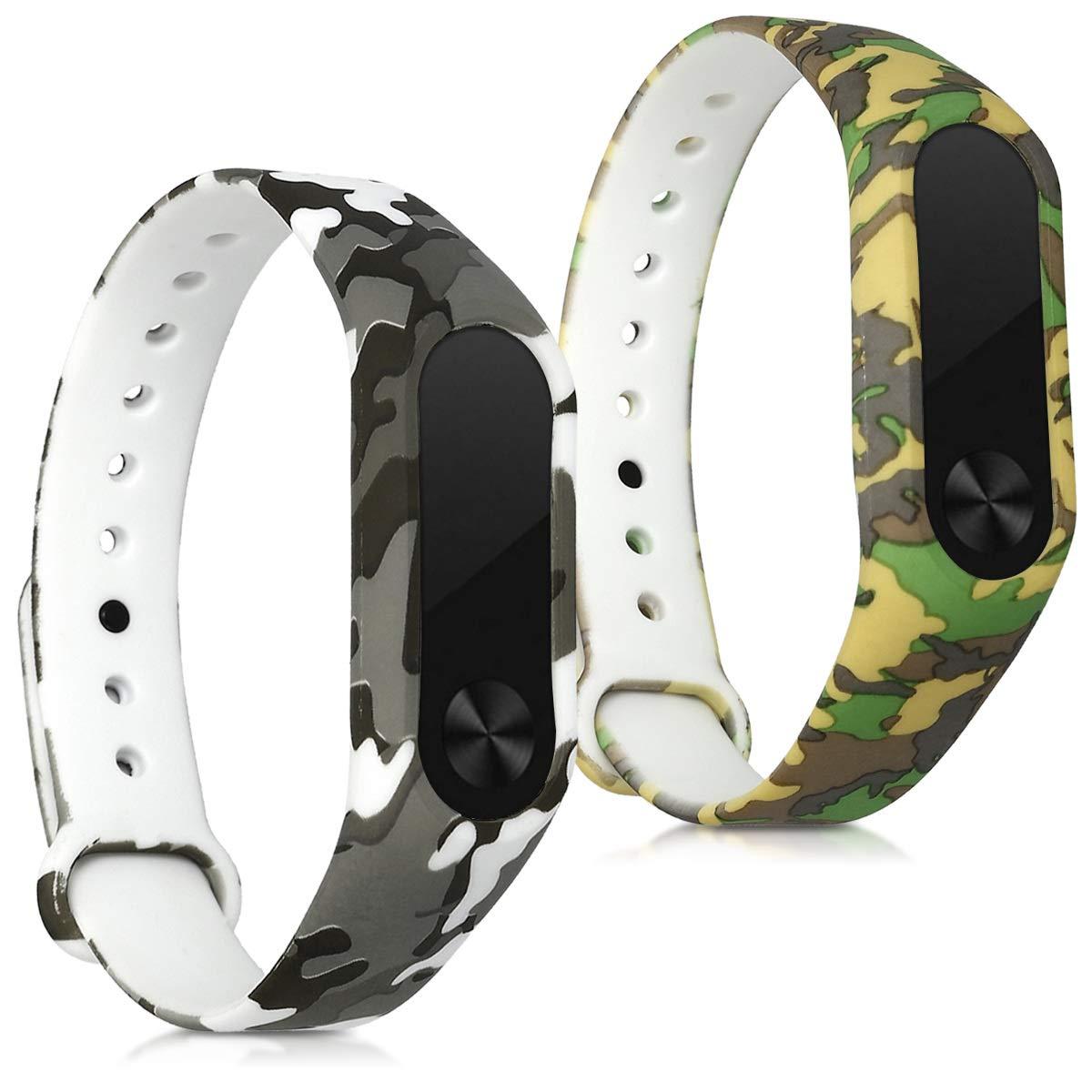Amazon.com: kwmobile Silicone Watch Strap for Xiaomi Mi Band ...