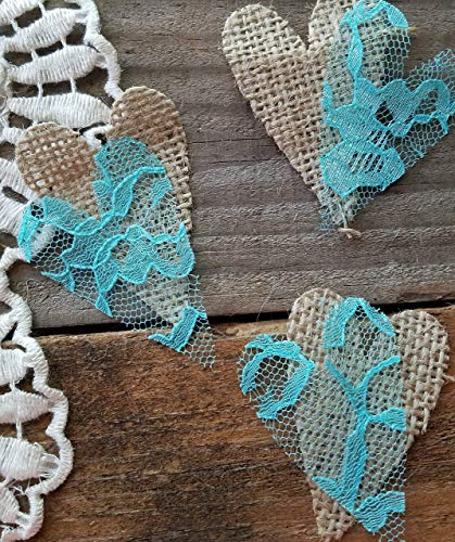 Rustic Wedding Decorations, Burlap and Lace Decorations, Rustic Baby shower, Dessert Or Cake Table Decor, -