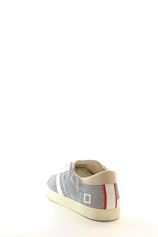 C8766 sneaker uomo D.A.T.E. scarpa HILL LOW ARGEGNO SKY avorio/blu shoe man [45] QGzHIo