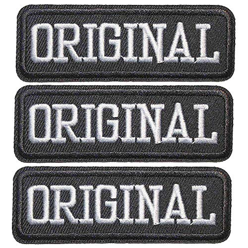 U-Sky Sew or Iron on Patches for Clothes - Original Slogan Patch for Motorcycle Biker Jackets, Jeans, Backpacks, Vest, Pack of 3pcs, Size: 3.140.98 inch (Original And Best Slogan)