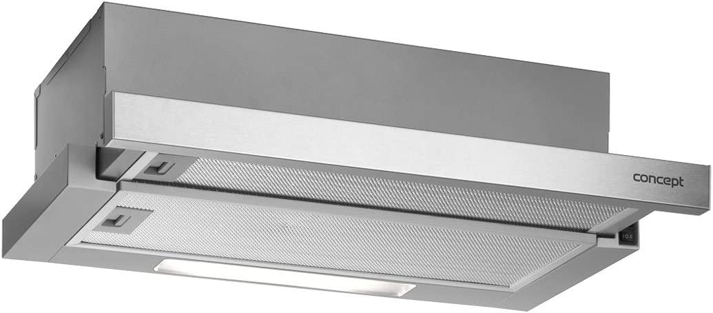 Concept OPV3660 - Campana extractora extensible (60 cm, 384 m3/h, 70 dB, 2 niveles de potencia, 205 W, campana de montaje: Amazon.es: Grandes electrodomésticos