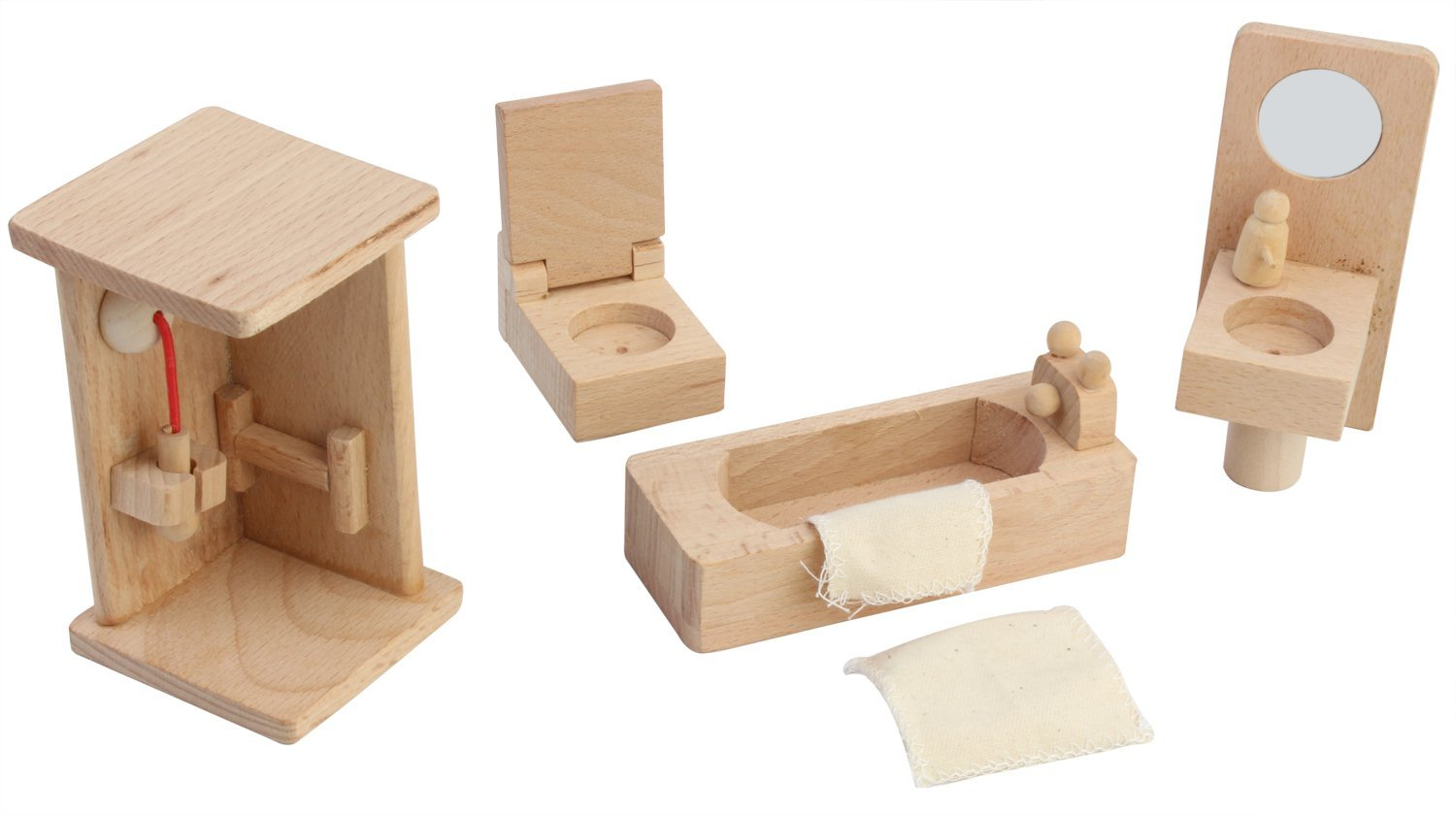 furniture miniature. Buy PIGLOO ™ Solid Wood Miniature Toy Dollhouse Bathroom Furniture Online At Low Prices In India - Amazon.in B