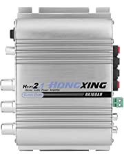 Zerone - Amplificador de Coche Mini 12 V 2.0 DE Graves Pesados Hi-Fi 2.1 Canales estéreo Amplificador con Salida de Graves para Coche estéreo Home Hi-Fi Altavoz de Audio