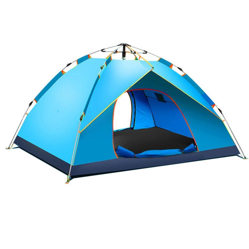 TY&WJ Vollautomatische Familie Campingzelt,Tipi Für Outdoor-sportarten Klettern Reise Double Layer 2 Personen