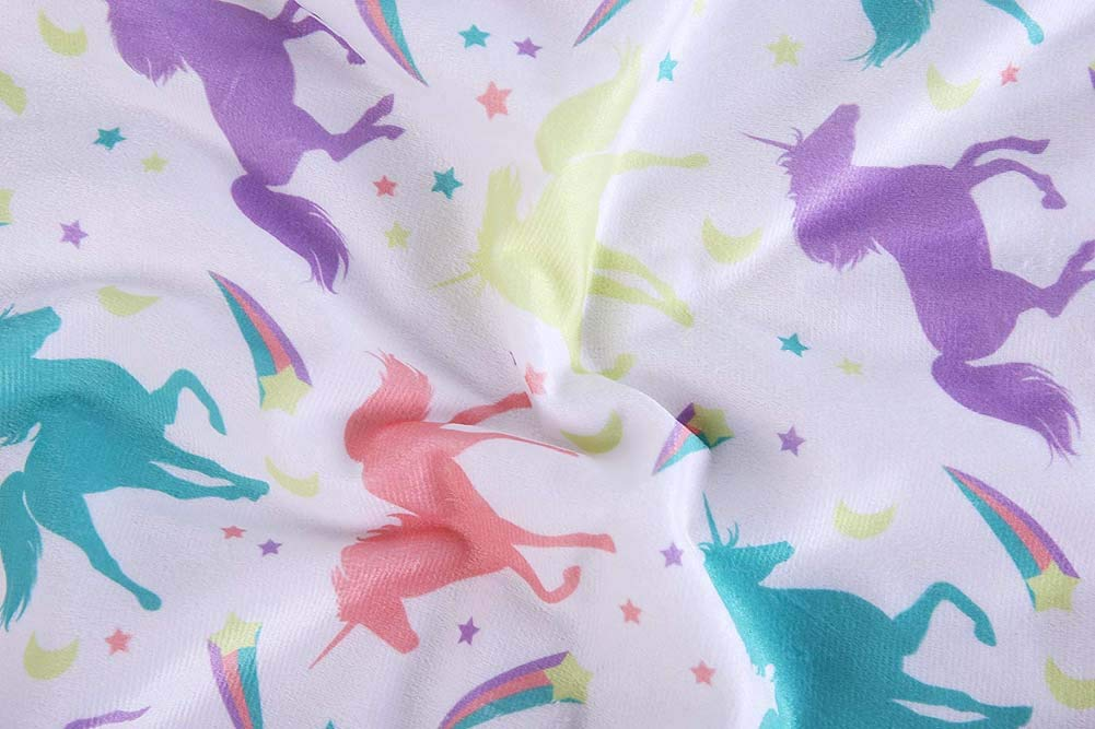 """COOSEY HOME Breathable Baby Blanket Print Fleece Best Registry Gift for Newborn Soft- Perfect for Prince and Princess 30"""" x 40"""" (Unicorn): Baby"""