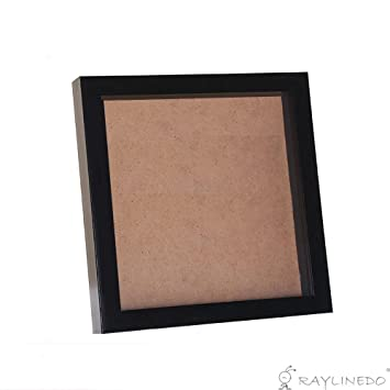 Raylinedo negro 3d de profundidad pantalla marco de fotos caja de ...