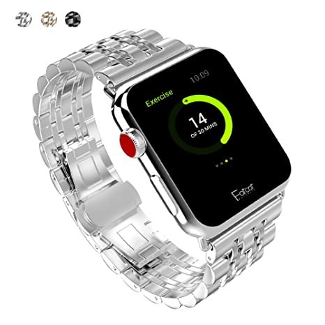 FatcatBand Correa para Apple Watch, 42mm Acero Inoxidable ...