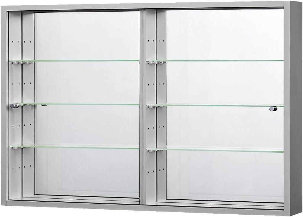 Coleccionistas con Vitrina (Expositor Colgante Vitrina acristalada Plata/Aluminio Espejo Vitrina Cristal Suelo 375 x 70 x 4 mm: Amazon.es: Juguetes y juegos