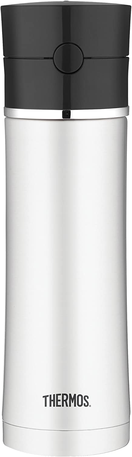 Thermos 17 Ounce Vacuum Insulated Stainless Steel Hydration Bottle, Black