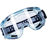Joyutoy Clear Sport Anti-Fog Safety Goggle Splash & Impact Resistant Goggle Sand Eye Protector Wide-Vision Lab Safety Goggle