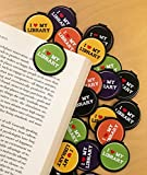 I LOVE MY LIBRARY Bookmarks - 36 Bulk Bookmarks for Kids girl's boys- School Student Incentives – Library incentives – Reading Incentives - Party Favor Prizes - Classroom Reading Awards!