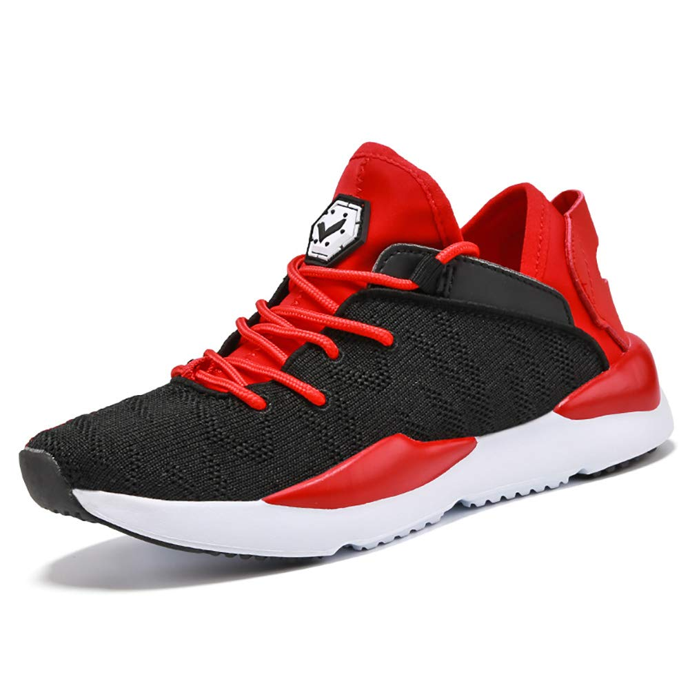 2238d981b1f5c VITIKE Kids Fly-Knit Sneakers Lightweight Breathable Sports Shoes for Boys  and Girls Used for Runing Outdoor-Walking Red