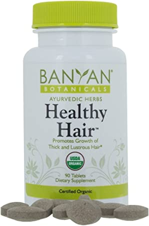 Banyan Botanicals Healthy Hair 90 Tablets Certified Organic Amazon Co Uk Beauty