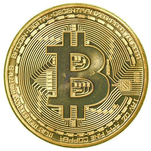 1 Piece x Gold Plated Bitcoin Coin Collectible BTC Coin Art Collection Gift Physical