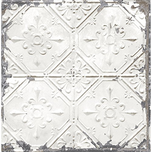 A-Street Prints 2701-22305 Tin Ceiling White Distressed Tiles