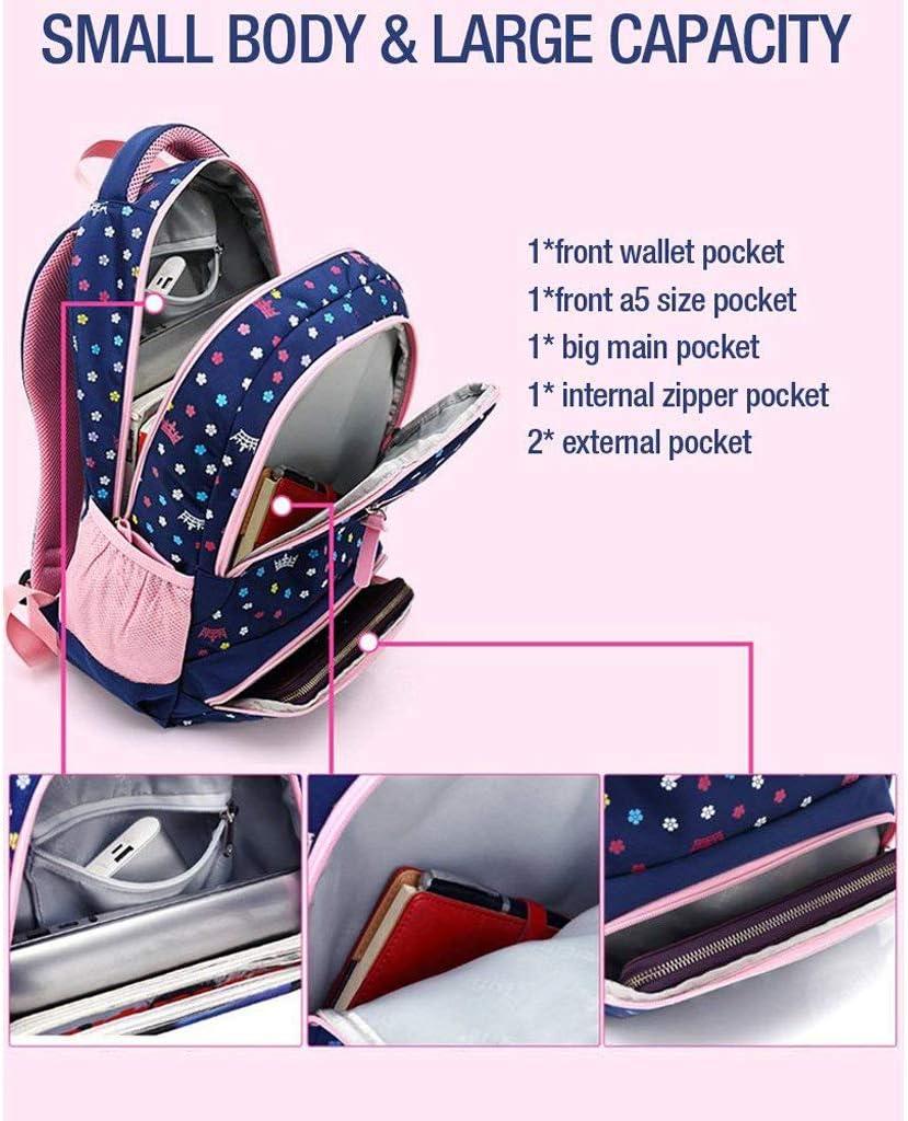Color : Dark Blue XFRJYKJ-Cartoon Backpack New School Bag Student Burden Reduction Ultra Light Childrens Bag