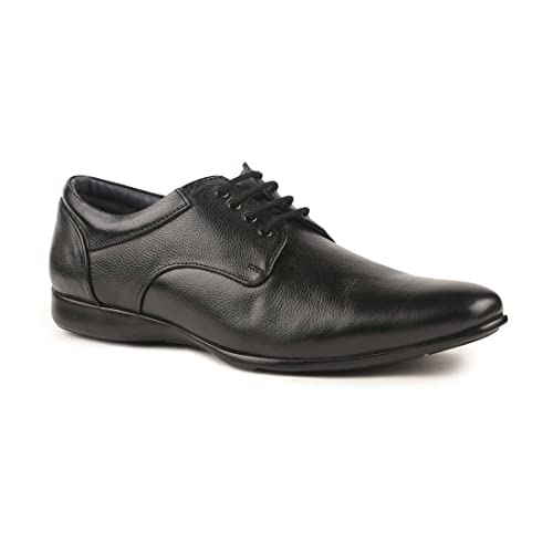 Paragon Men Black Formal Shoes with