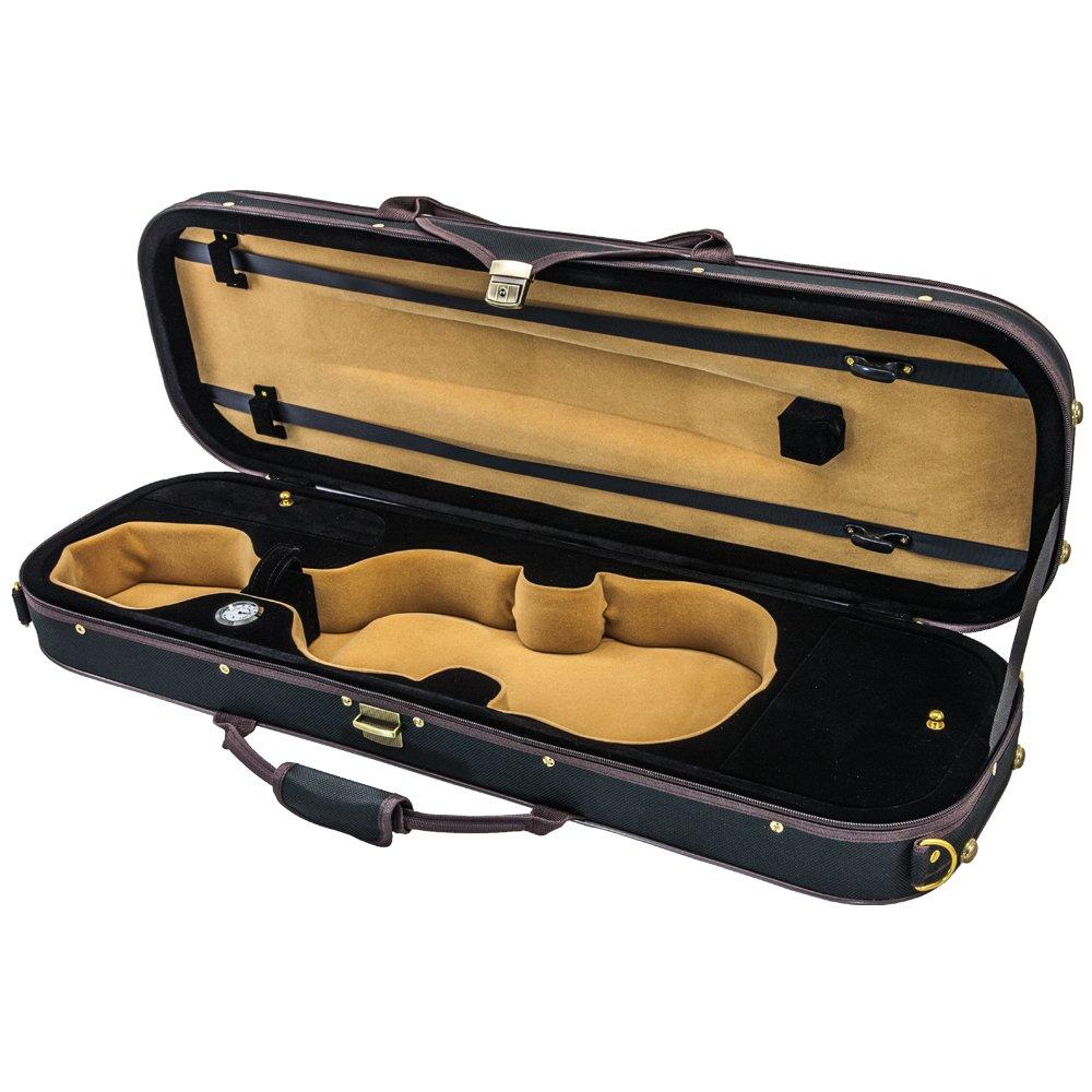 b7e37e2fbaec SKY 3/4 Size Violin Oblong Case Lightweight with Hygrometer Black/Brown  Khaki product