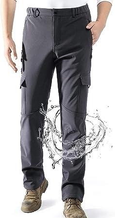 Aoli Ray Hombre Impermeables Lana Forrado Pantalones Trekking Escalada Senderismo Softshell Pantalones Amazon Es Deportes Y Aire Libre