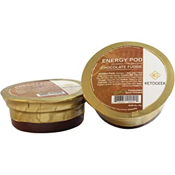 buy Ketogeek Chocolate Fudge Energy Pods - Premium Keto Low Carb No Added Sugar High Fat with Organic Cocoa Grass-Fed Ghee MCT Oil Vanilla Beans 3g Net Carbs - 8 Pods Box