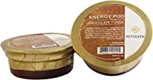 Ketogeek Chocolate Fudge Energy Pods - Premium Keto Low Carb No Added Sugar High Fat with Organic Cocoa Grass-Fed Ghee MCT Oil Vanilla Beans 3g Net Carbs - 8 Pods Box