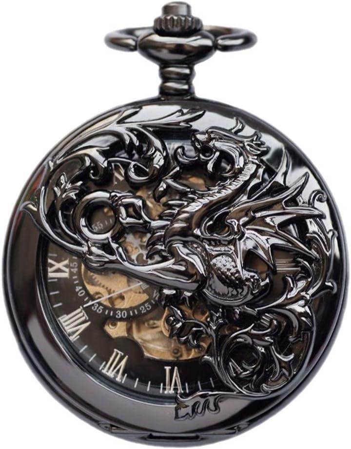 自動機械式時計、中空フリップTarrasqueのユニコーン、古典的なレトロなフリップ中空看護学生の時計お土産。 (Color : C)