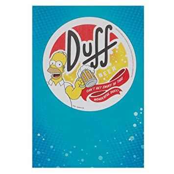 Hallmark The Simpsons Birthday Card For Him Duff Beer Medium