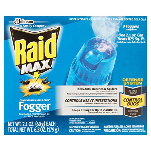 Price comparison product image Raid Max Concentrated Deep Reach Fogger (2.1 Ounces,  3 count)