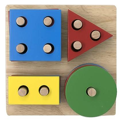 Amazon.com: Junta geométrica de madera de apilar y ordenar ...