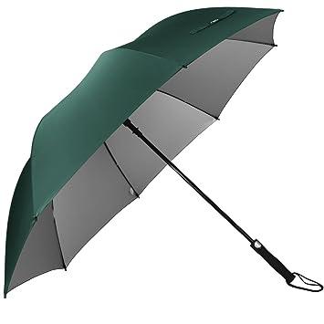 G4Free 62 paraguas de Golf Plata Revestimiento grande toldo impermeable y a prueba de viento automático abierto