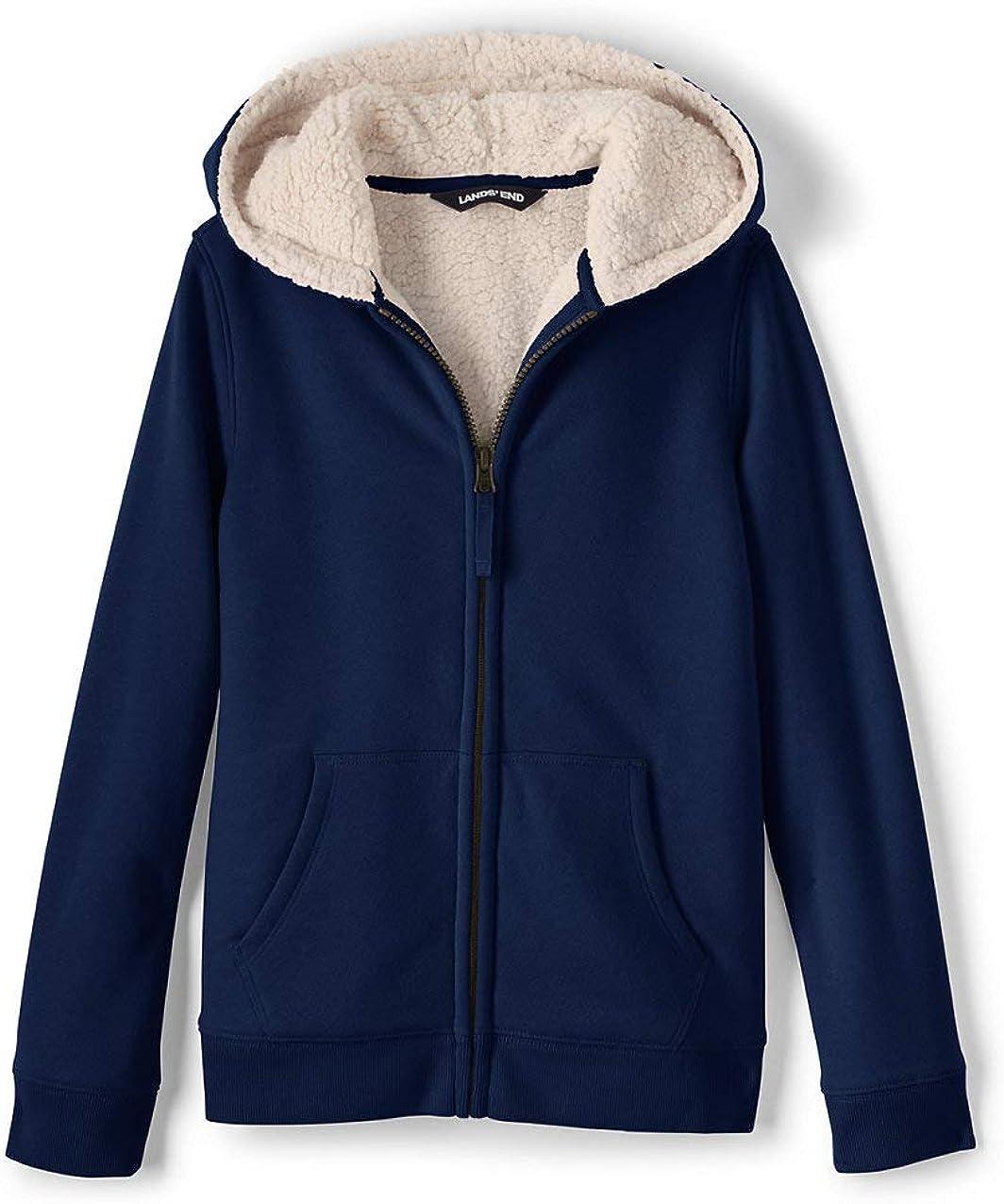Lands' End Kids Sherpa Lined Zip Hoodie: Clothing