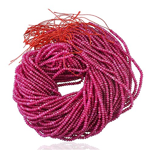 Ratnagarbha Pink-Tourmaline Color Quartz Faceted rondelle Loose Gemstone Beads Strand, 3 mm 14 inch 5 Strands, Jewelry Making, Wholesale Price, Prepared Exclusively by Ratnagarbha.