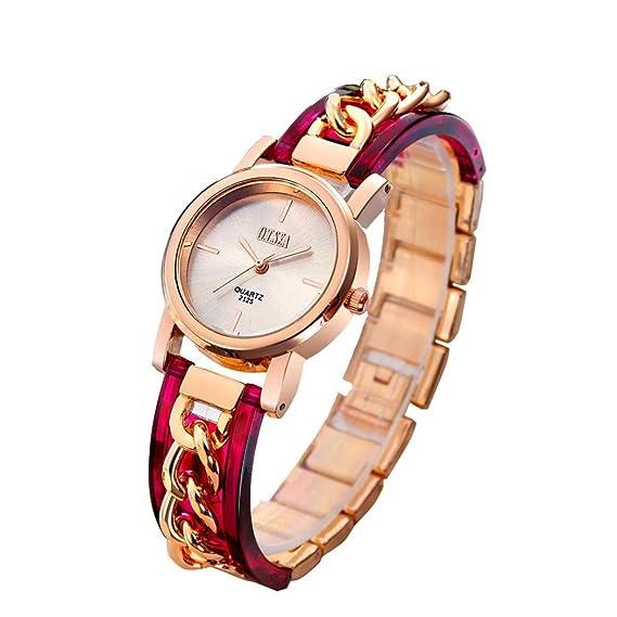Las mujeres Simple Chic Relojes, SINMA Unique cadena banda reloj de pulsera de cuarzo reloj de pulsera analógico para O.T. mar: Amazon.es: Relojes