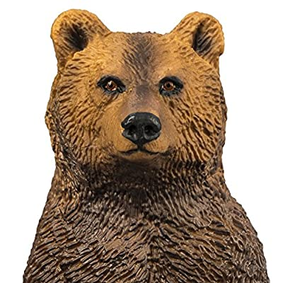Safari S181729 Wild North American Wildlife Grizzly Bear Miniature: Toys & Games